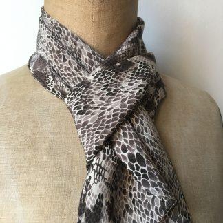 foulard soie python