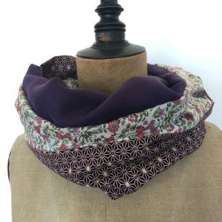 foulard printemps fleurs violet
