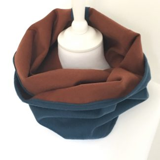 snood homme cachemire marron bleu