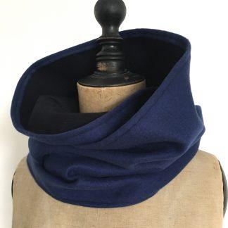 écharpe homme cachemire bleu noir