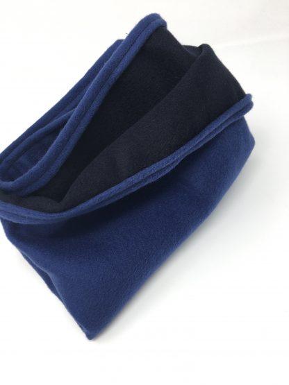 Snood homme cachemire bleu et noir
