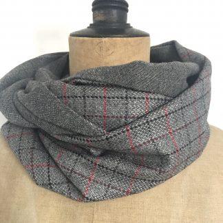 écharpe homme laine carreaux