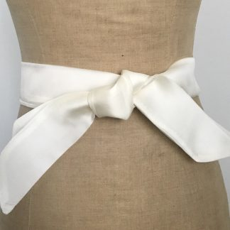 ceinture rubans organza blanc