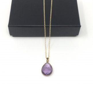 Collier améthyste violet