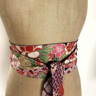 Ceinture Obi Fleurs coton japonais