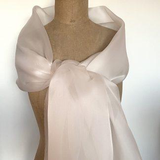 Etole organza soie blanc