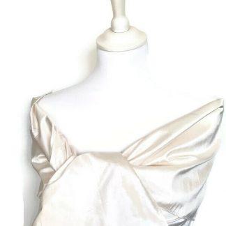 Étole mariée soie blanc cassé - doupion