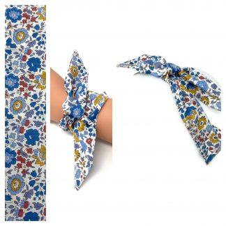 Bandeau Liberty D'Anjo bleu ocre,