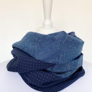 Tissu japonais Snood homme bleu